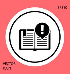 Black interesting facts icon isolated on red vector