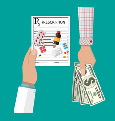 buying and selling drugs vector image