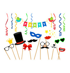 carnaval party accessories vector image
