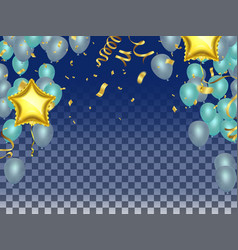 celebrate balloons and star balloons holiday vector image