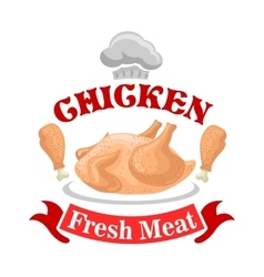 Chicken meat shop sign vector image
