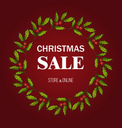 christmas sale poster special offer vector image
