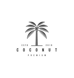 coconut tree logo design template premium vector image
