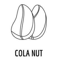 cola nut icon outline style vector image