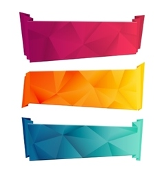 Color triangular ribbon and banner set Ribbons vector image