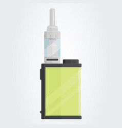 colored flat vaping device part of big set vector image