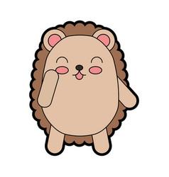 Cute armadillo cartoon vector
