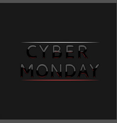 cyber monday text logo in frame creative vector image