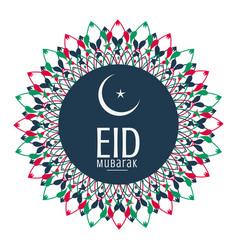 decorative eid mubarak festival background vector image