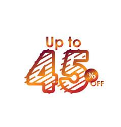 Discount up to 45 off label sale line gradient vector