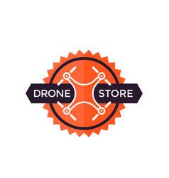 Drone store logo design vector