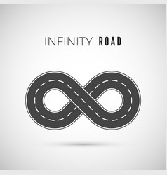 endless road - infinity sign loop way symbol vector image