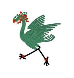 fantastic mythological bird sketch for your vector image