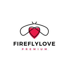 Firefly love logo icon vector