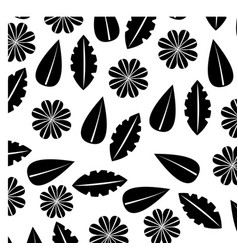 flower leaves shaped different nature decoration vector image