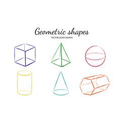 geometric shapes set 2 vector image