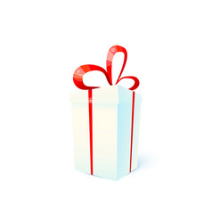 gift box christmas present surprise flat concept vector image