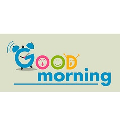 good morning flat style vector image