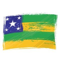 Grunge Sergipe flag vector image vector image