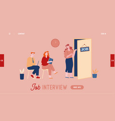 job interview website landing page man and woman vector image