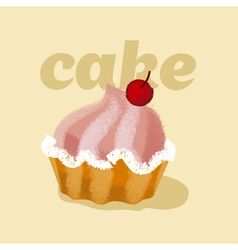 Kiddy style sweets cake vector