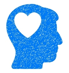Love Heart Think Grainy Texture Icon vector