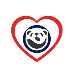 love panda logo concept icon vector image