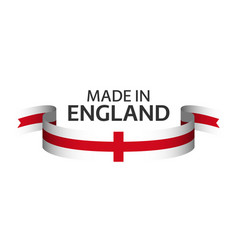 made in england colored ribbon with english vector image
