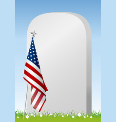 Memorial day on american flag background vector