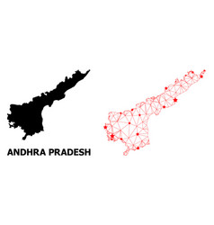 Mesh polygonal map andhra pradesh state vector