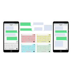 Messenger mobile phone user interface vector