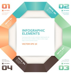 Modern Origami Style Number Options Infographics vector image