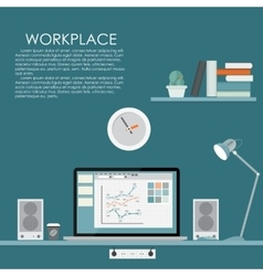 Modern workplace flat vector