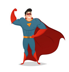Muscular man dressed in superhero costume vector