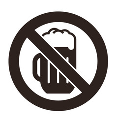 no alcohol sign vector image