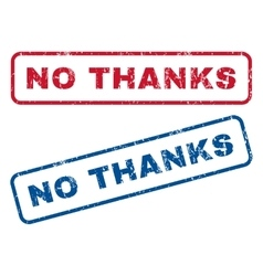 No Thanks Rubber Stamps vector image