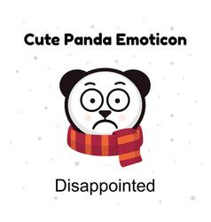Panda sad emoji chinese bear sadness or vector