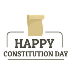 Paper constitution day logo icon flat style vector