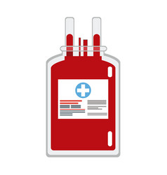 Plastic bag blood donate health care vector