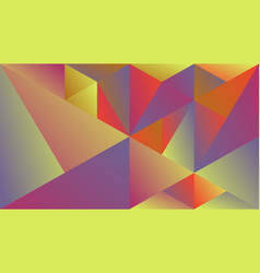 Polygonal geometric abstract gradient triangle vector