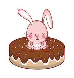 Rabbit and food vector