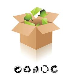 Recycling box vector