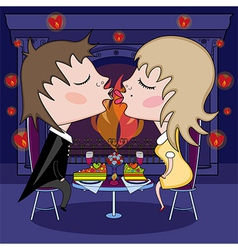 romantic date on Valentines Day vector image