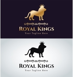 Royal logo lion silhouette vector image