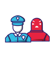 Security agent with robot avatars vector