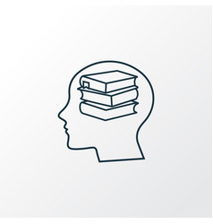 self study icon line symbol premium quality vector image