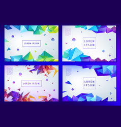 set abstract triangular banners vector image