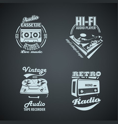 Set of retro monocrome vintage logotypes vector