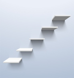 Shelves in the shape of stairs vector