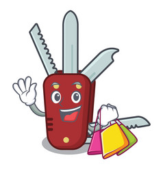 Shopping penknife in a character shape vector